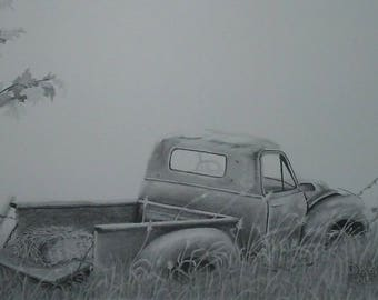 old truck drawing etsy