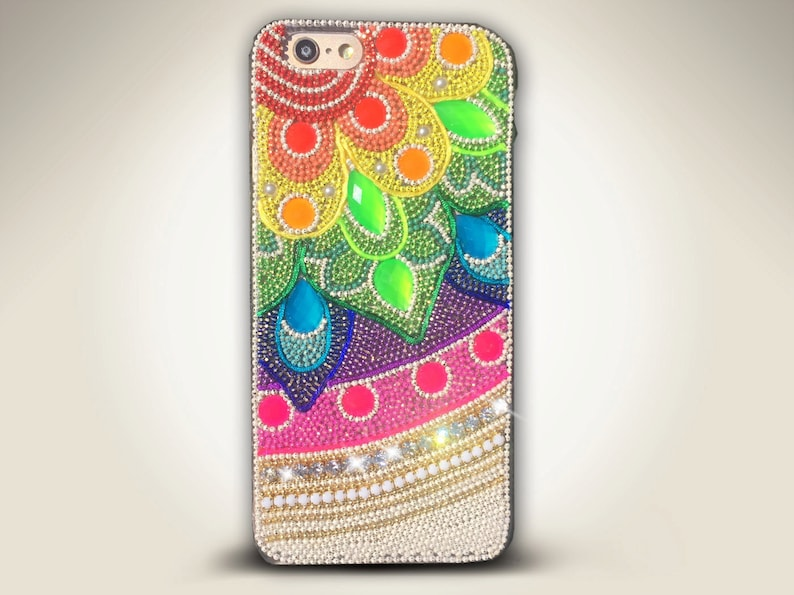 bbea3dd71 Luxury Bling case for iPhone Samsung Cute Colorful Rainbow | Etsy