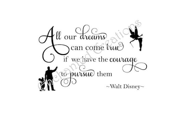svg file all our dreams can come true walt disney etsy