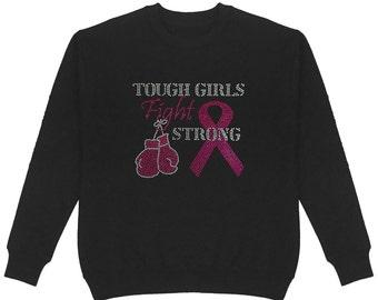 Unisex Breast Cancer Believe Pink Ribbon Crew Neck Sweatshirt 765 Bling Bling Handmade Plus Size