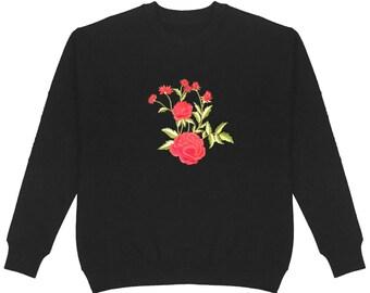 White Daisy Women/'s Pullover Hoodie Plus Size Unisex Cotton Handmade Flower