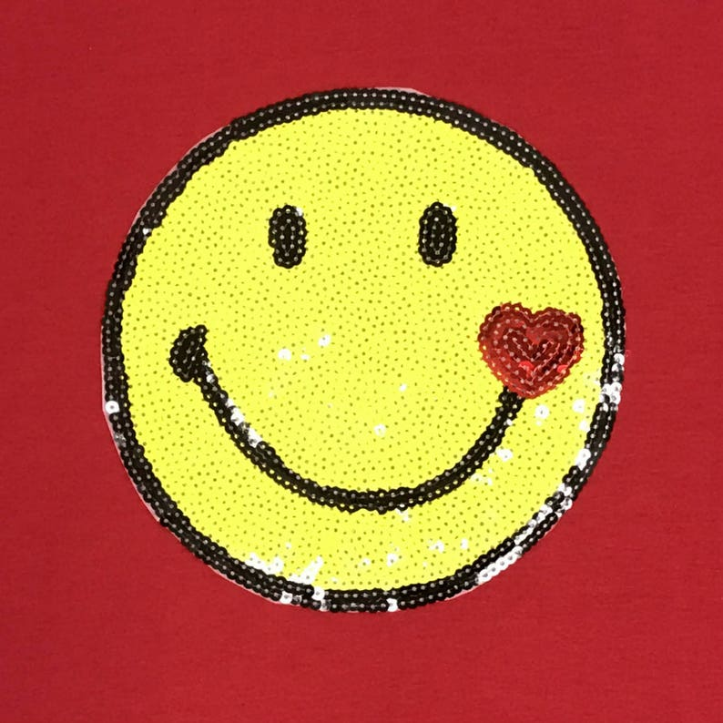Unisex 972 Bling Bling Handmade Smiley Face Patch Women/'s Pullover Hoodie Plus Size