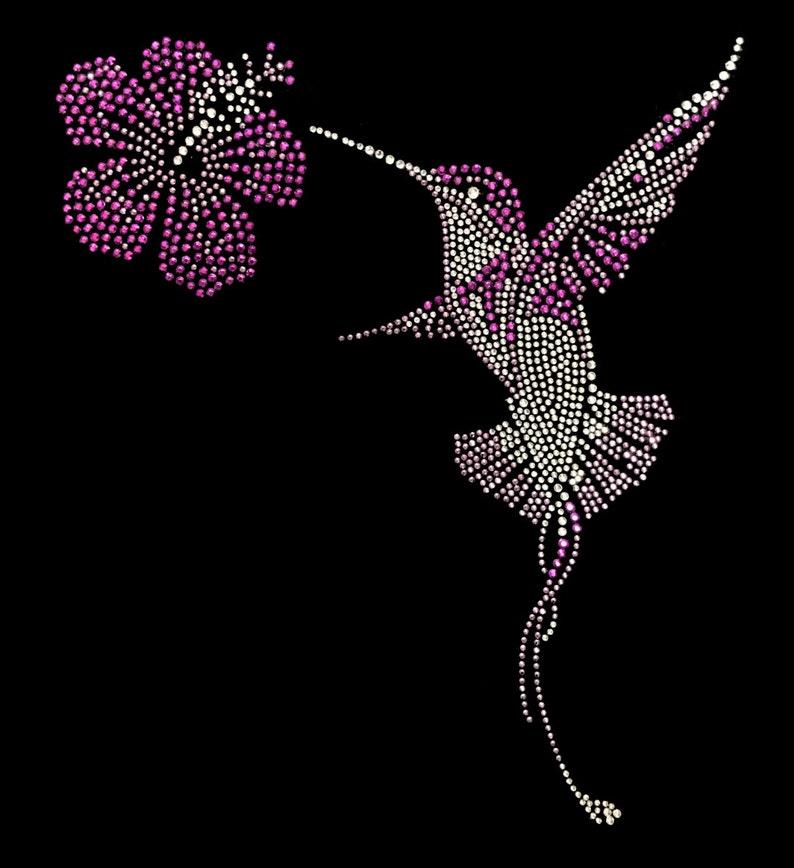 Cute Animal Humming Bird Rhinestone Women/'s Pullover Hoodie Bling Bling Unisex 880 purple Handmade Plus Size