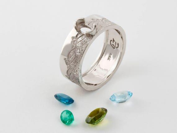 Owalne Pierścionek Zaręczynowy Owalne Cięcia Pierścień Owalnego Pierścienia Szmaragdowy Pierścień Turmalin Pierścień Pierścień