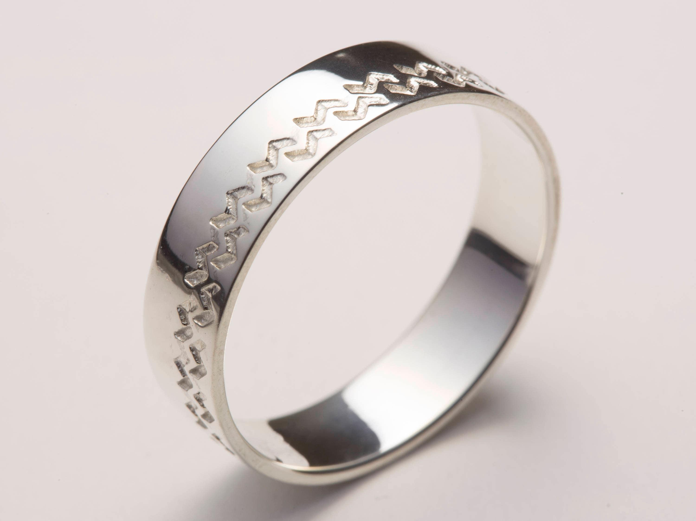 Mens Wedding Band Men Wedding Ring White Gold White Gold Etsy