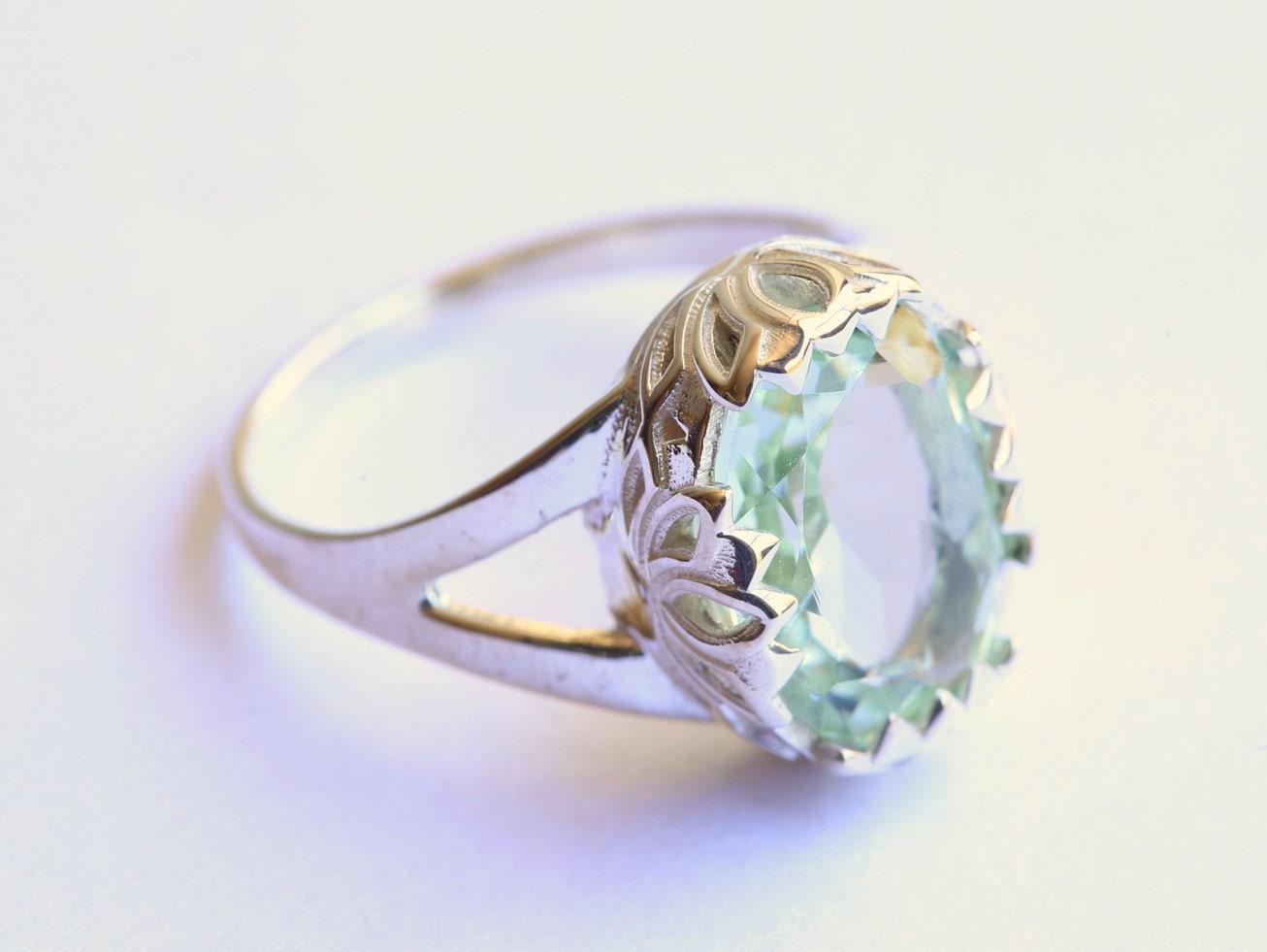 green amethyst gold ring lotus flower ring zen ring yoga. Black Bedroom Furniture Sets. Home Design Ideas