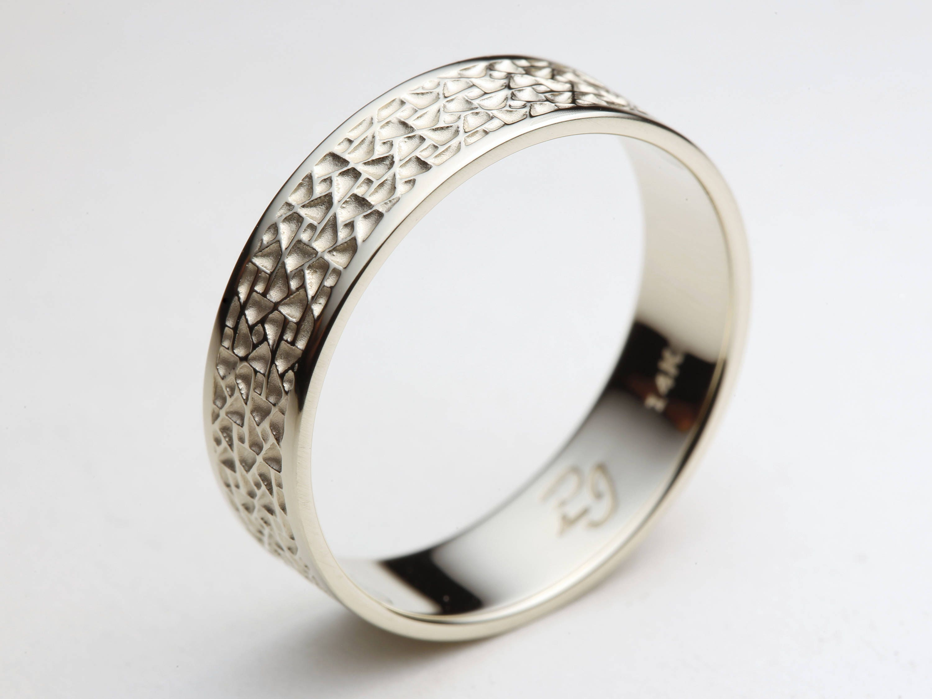 ring wedding rings patterned palladium gents