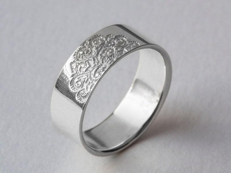 Platinum Ring Platinum Wedding Band Stamp Ring Platinum