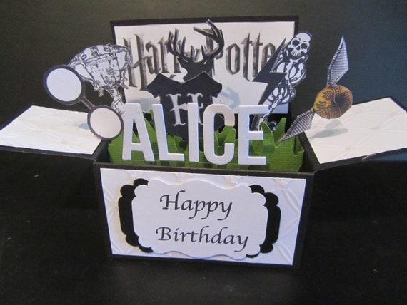 Custom made PERSONALISED 3D birthday Card in a box Handmade card