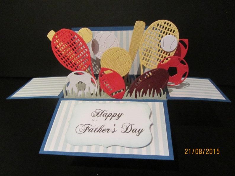 Handmade 3D Birthday Greeting Card In A Box Sport