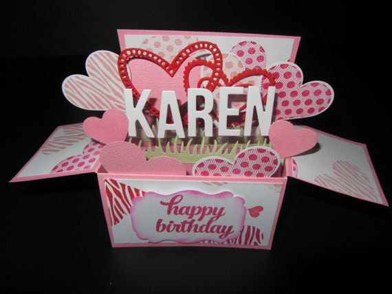 Handmade 3D Mothers Day Birthday Card In A Box Linking