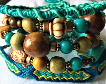 Full of color set of 3 bracelets. FREE shipping in the USA!