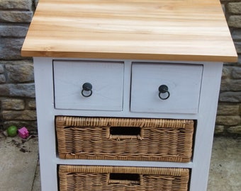 Rattan chest drawer