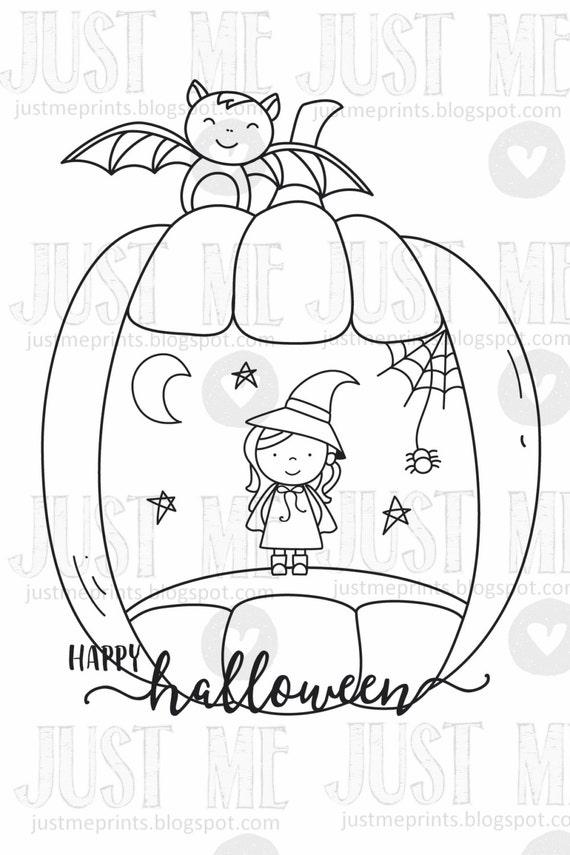 Pumpkin carvings digital stamp set etsy