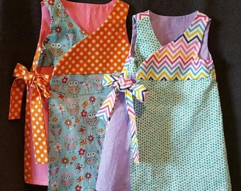 CUSTOM MADE toddler wrap dress