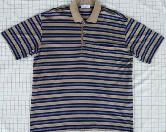 4f2855cc53a7d4 Vtg CHRISTIAN DIOR Paris Striped Polo Shirt Made In Italy