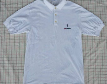 c5551628fb0 Vtg YSL Yves Saint Laurent Tricots Pour Homme Polo Shirt Made In Italy