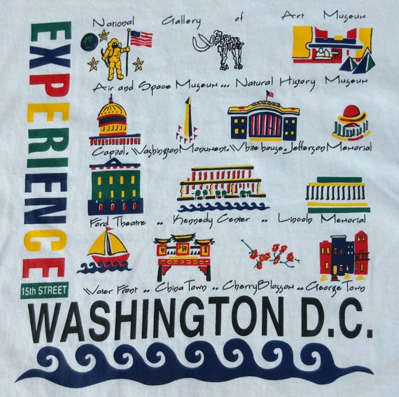 Vtg Washington DC Experience Holiday Tourist T Sh… - image 2