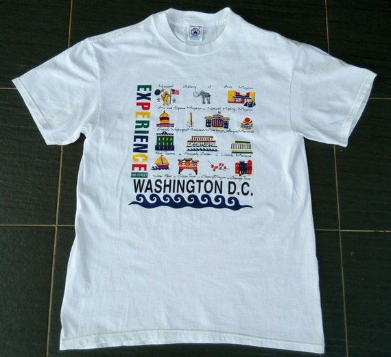 Vtg Washington DC Experience Holiday Tourist T Sh… - image 1