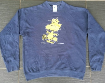 Vtg 80s 90s WOODSTOCK PEANUTS By Schulz Sweater 50/50 Made In USA