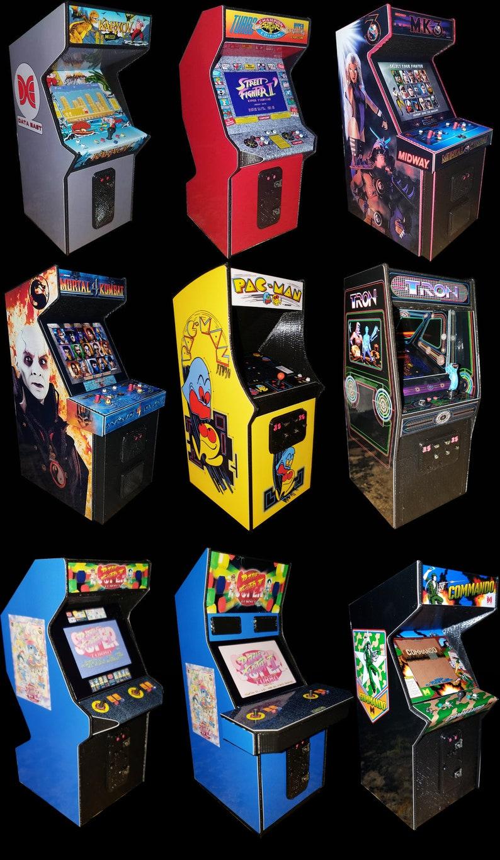 3D Printed Mini Arcade Cabinet Displays (Mortal Kombat I and II,WWF  Wrestlemania,Street Fighter II,Simpsons,G I Joe, More & Custom Request)