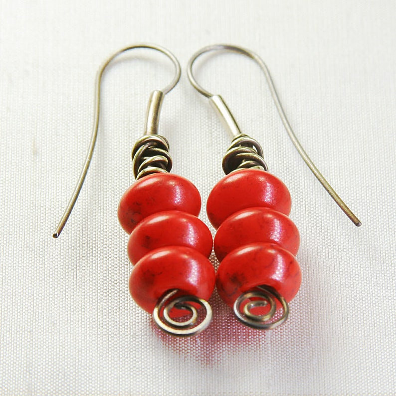 Titanium Tangle Triplet Earrings