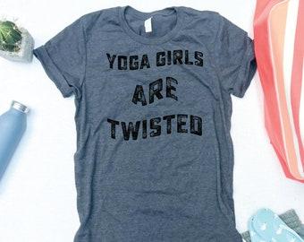 4e0f914b76 Yoga Girls Are Twisted Tshirt - Funny Yoga Shirt, Yoga Slogan Shirt, Womens  Yoga Tshirt, Cute Yoga Gym Shirt, Yoga Workout Shirt