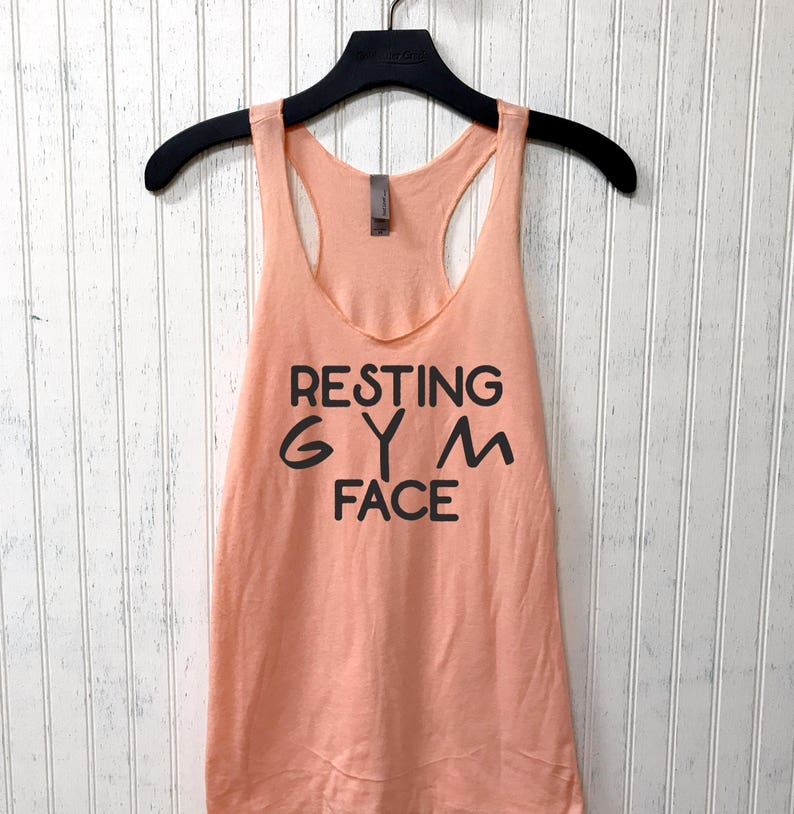 d3629fd3 Resting Gym Face Muscle Tee funny workout tank gym shirt   Etsy