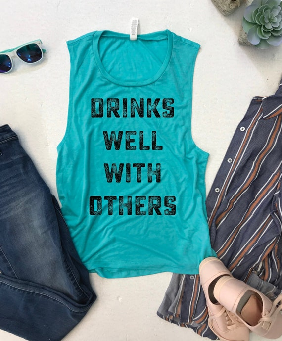 0d79370732bd0 Drinks Well With Others Women s Muscle Tank Drinks with