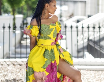 Long ankara dress, print dress, gathered dress, african print dress, ankara dress, maxi dress, maxi, dress, african clothing, prom dress
