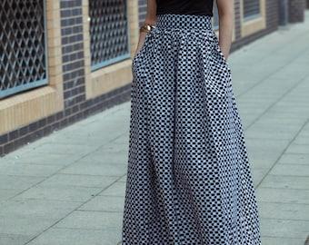 d493ac0ccb Ankara maxi skirt, gathered skirt,long skirt, skirt, retro skirt, maxi skirt