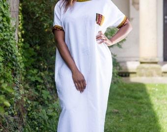 long dress, african print dress, ankara dress, mixed print dress