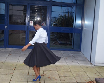 Full Circle Skirt, Midi Skirt