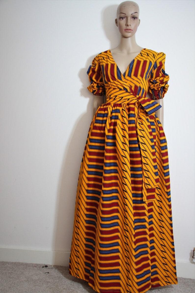 c7041bf3dcb Long ankara dress print dress gathered dress african print