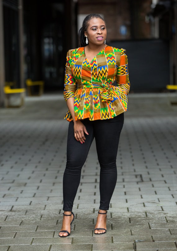 African Wear African Print Top and Wrap Skirt Ankara Top Ankara Skirt Ankara Outfit Wrap Skirt
