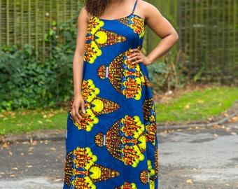 Ankara gown, african print dress, maxi ankara dress.