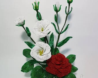 Fleurs Bouquet décor perlé