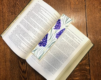 Original Handpainted Bookmark Flowers Watercolor Painting on Watercolor Paper - Laminated