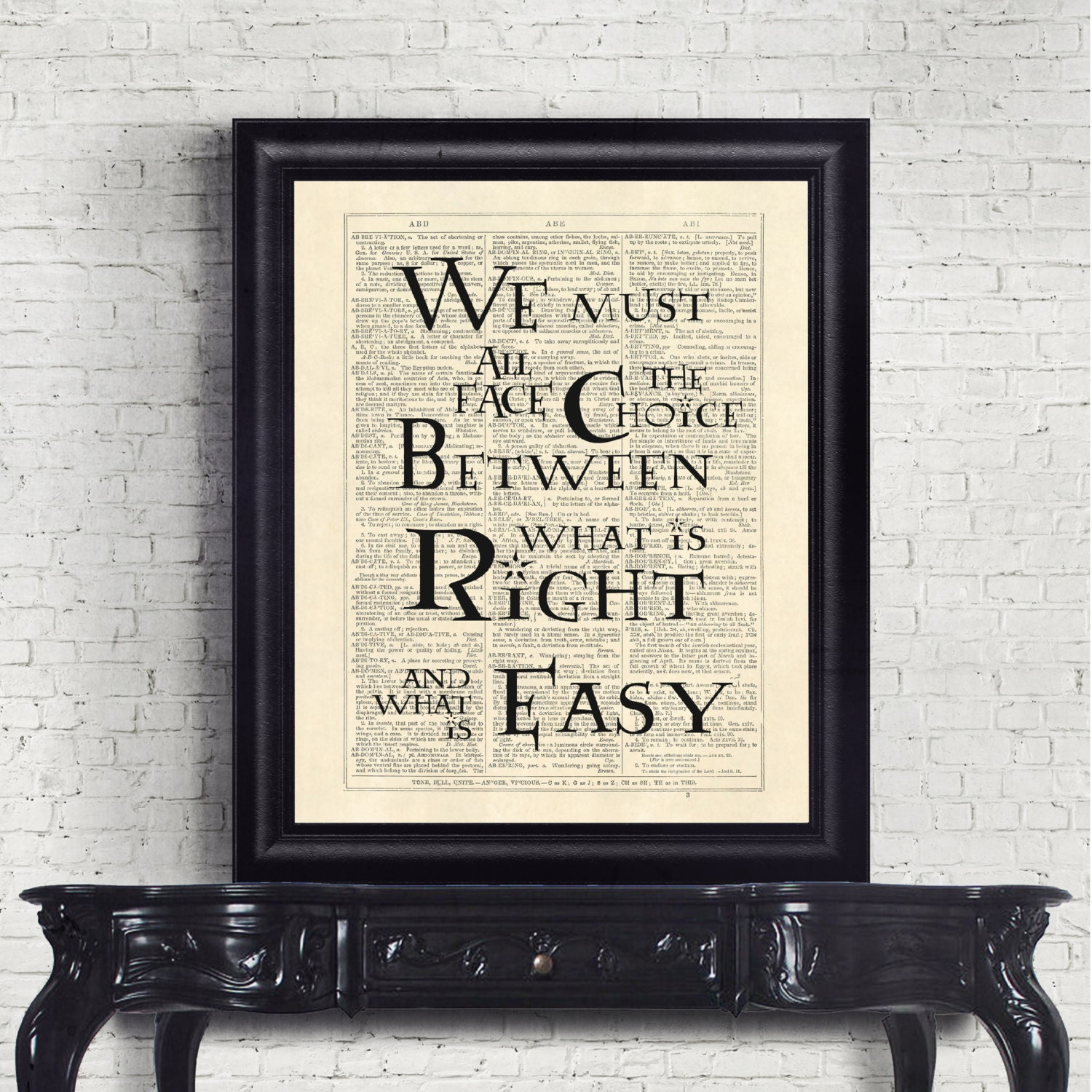 Harry Potter quote dictionary page art print gift print reading literary