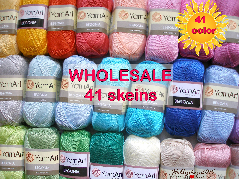 Mercerized Cotton Yarn Amigurumi Crochet Yarn Yarnart Etsy