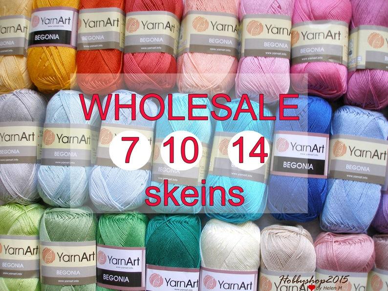 Wholesale 7 10 14 Skeins 41 Colors 100 Mercerized Cotton Etsy