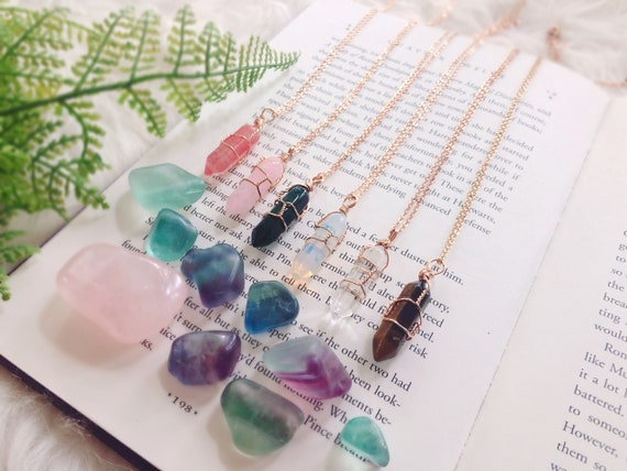 Crystal Necklace - Healing Crystal - Healing Crystal Necklace - Healing  Crystals and Stones - Heal Crystal - Wire Wrap - Crystal Jewelry