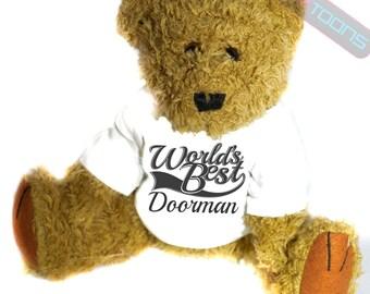 Doorman Thank You Gift Teddy Bear