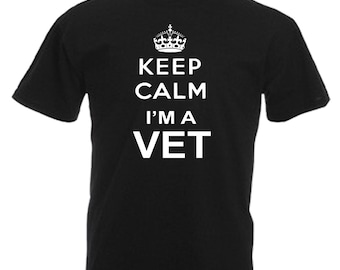 VET Gift Adults Mens Black T Shirt Sizes From Small - 3XL