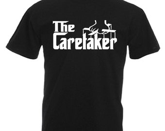 Caretaker Mens Gift Adults Black T Shirt Sizes From Small - 3XL