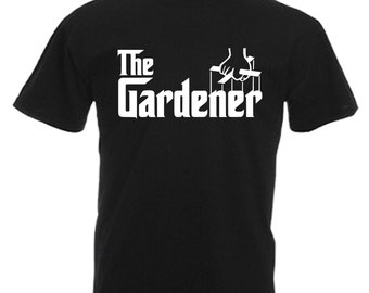 Gardener Mens Gift Adults Black T Shirt Sizes From Small - 3XL