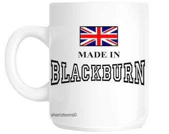 Fait né le dans Blackburn anniversaire cadeau Mug shan512