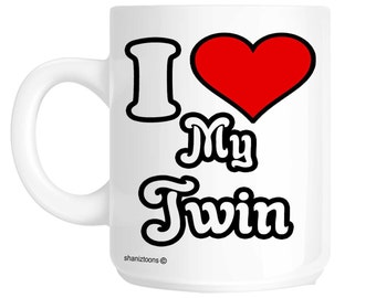 I Love My Twin Novelty Gift Mug SHAN424