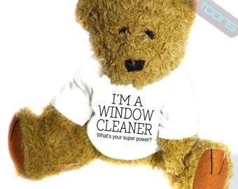 Window Cleaner Novelty Gift Teddy Bear