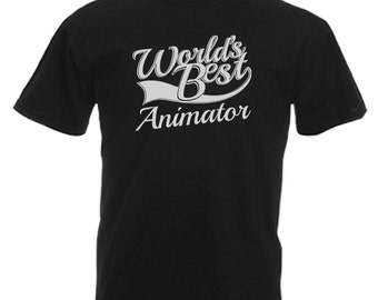 Animator Gift Adults Mens Black T Shirt Sizes From Small - 3XL